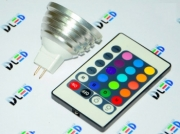 Lamp MULTICOLOR MR 16 3W RGB